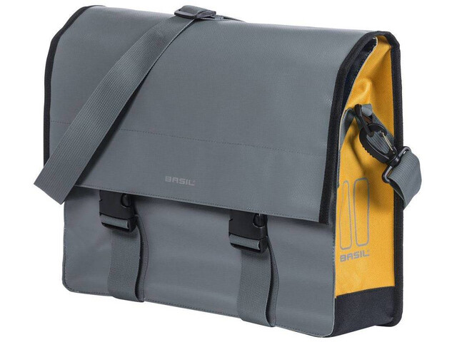 Basil Urban Load Shoulder Bag 15-17l, stormy grey/gold